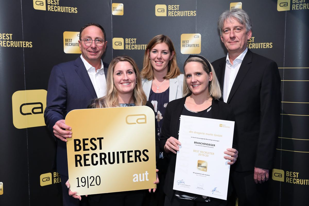 Goldenes Siegel BEST RECRUITERS 2019/20 für dm drogerie markt